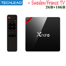 X96pro Smart set top box 2GB 16G with led display + Swedish French Netherlands Europe iptv abonnement Arabic Italian apk m3u tv(China)