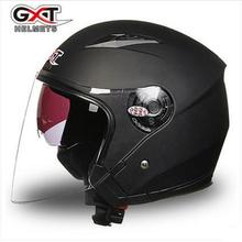 New GXT Motorcycle helmet Half cover Double lens Four season General Uv protection electric safety helmet G512