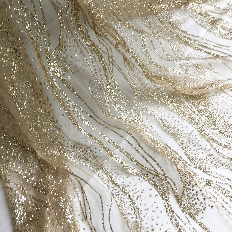 130cm wide Gold sequin sparkle fabric wedding photo backdrop