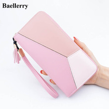 Brand Designer Leather Wallets Women Purses Zipper Long Coin Purses Credit Card Holders Clutch Phone Wallets Female Money Bags