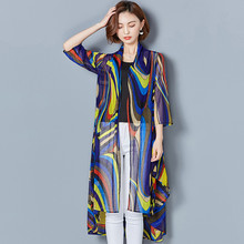 Buy MISSFEBPLUM New Long Cardigan Women Summer 2018 Chiffon Sunscreen clothes Cover Coat Beach Vacation Clothing Plus Size for $15.91 in AliExpress store