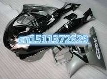 Bo Custom Fairing kit for CBR600F3 97 99 CBR 600 F3 1997 1998 cbr 600f3 97 98 Silver black Fairings set(China)