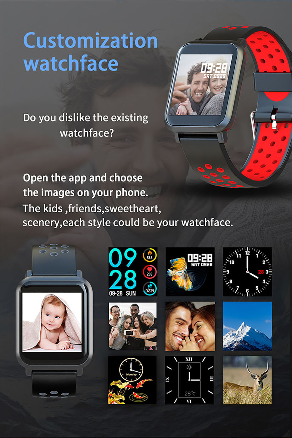 COLMI Smart Watch Men Tempered glass Fitness Tracker Blood pressure IP68 Waterproof Activity Tracker Women Smartwatch 8