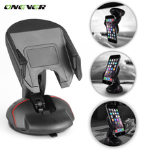 360 Degrees Universal In Car Dashboard Cell Mobile Phone GPS Mount Holder 1pcs Stand Cradle for iPhone Samsung Galaxy