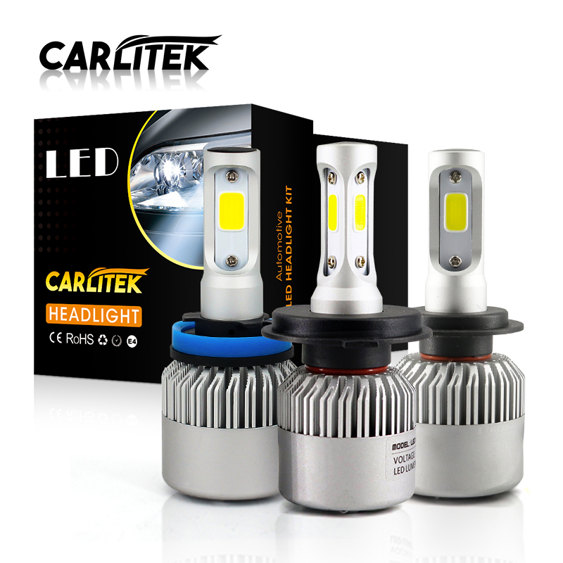 S2 72W 8000LM COB Chip H11 H4 H7 LED 12V Car Headlight Bulb 9006 9005 H8 H1 Auto Led Hi Lo Beam Automobiles Headlamp Car Light