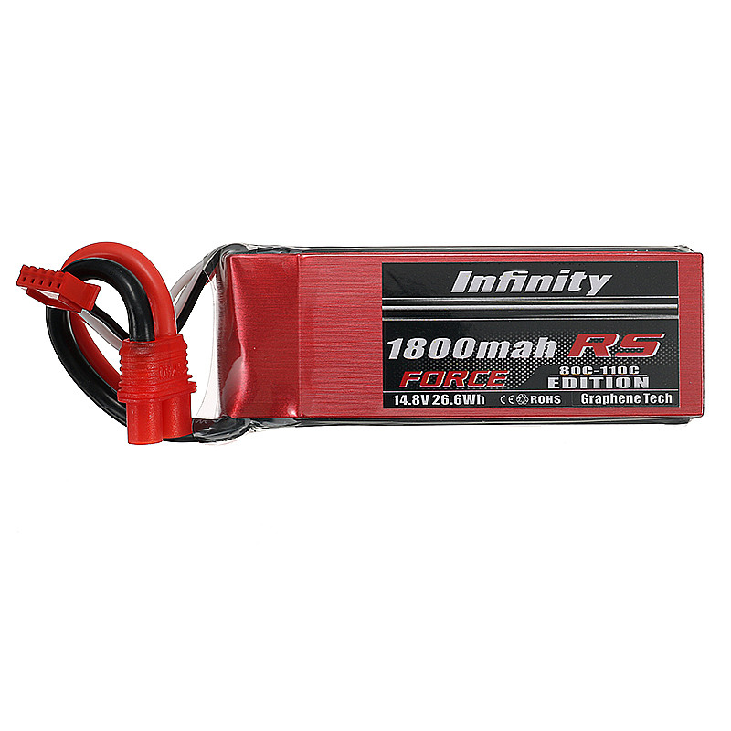 2017 Newest for Infinity 14.8V 1800mah 4S1P 80C SY60 XT60 Plug RS FORCE EDITION Lipo Battery For RC Racer Drone Quadcopter Power<br>
