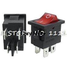 6A 250V AC Double Pole Single Throw DPST O/F Neon Lamp Rocker Switch