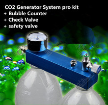 New DIY Aquarium Planted Tank CO2 Generator System pro kit + Bubble Counter + Check Valve+ safety valve Pet supplies