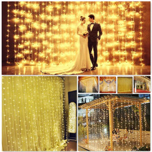 3*3m 300LED, 8 Model Window Curtain String Lights Icicle Fairy Lights for Wedding Ceremony Christmas Party Celebration decora(China)