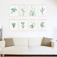 Modern Minimalist Watercolor Flower Leaf Floral A4 Art Print Poster Wall Picture Canvas Painting Living Rooms BedRoom Home Decor
