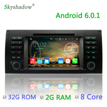 1024*600 Android 6.0 8 core Octa Core 2GB RAM Car DVD Player GPS RDS Radio Wifi BT For BMW 5 7 Series E39 X5 E53 M5 Range Rover