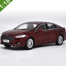Brand New 2017 1/18 Alloy Ford Mondeo Fusion Red Diecast Model Car Alloy Model Car For Baby Gifts Toys collection(China)