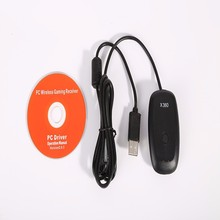 Windows PC Wireless USB Receiver Gaming Adapter For Xbox 360 Controller Black White