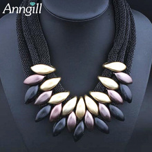 Buy ANNGILL Women Big Chunky Necklace Weaved Chain Gradient Pendant Collar Chokers Statement Necklaces Maxi Jewelry Boho for $3.78 in AliExpress store