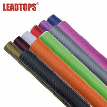 LEADTOPS Car Styling 30x127cm 3D Carbon Fiber Vinyl Car stickers Sheet Roll Film Decals Motorcycle Accessories Automobiles DJ(China)