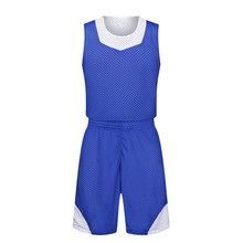 2017 New Men Women Reversible Basketball Jersey Sets Uniforms Kits Sportswear Double-sided Super Breathable Mesh Jerseys Suits