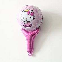 Baby Shower pink hello kitty Balloons children classic toys Party Birthday Wedding Decorations supplies(China)
