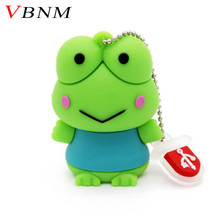 VBNM fashion animal cute  Frog USB Flash Drive animal pen drive gift hot sale cartoon pendrive 4GB/8GB/16GB USB 2.0 Wholesale