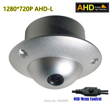OSD Menu Analog UFO High Definition Flying Saucer 720P HD Mini Dome AHD Camera Ceiling Mount For Elevator Lift Use Wholesale()