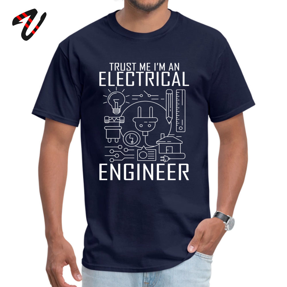 2019 Popular TrustmeIamanEngineer Printed Top T-shirts O Neck 100% Cotton Men Tops T Shirt Short Sleeve Tee Shirts Autumn 200Trust-me-I-am-an-Engineer navy