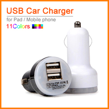 Best Quality Auto Universal Dual USB Car Charger For Pad for iPhone for Mobile Phone 5V 2.1A Short Circuit Protection(China)