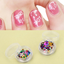 Nail Art Transfer Beauty Adhesive Polish Nail Supplies Nail Stickers Decorations Letter Small Flash Chip 26 Letters