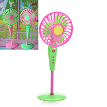 Cute Mechanical Fan Toys For Barbie Dolls Classic Kids Play House Toys Doll Accessories Fan Furniture Random Color Hot Sell(China)