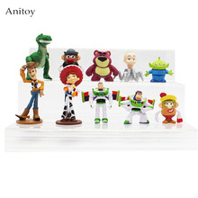 10pcs/set Anime Toy Story 3 Buzz Lightyear Woody Jessie Lotso PVC Action Figure Collectible Model 4.5-10cm KT4196(China)