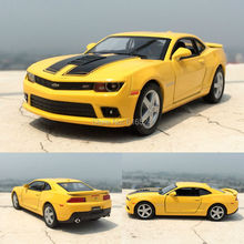 5'' 12cm 2014 Chevrolet Corvette Coupe Bumblebee Sports car 1:38 Alloy Kinsmart Diecast model toy cars for boys