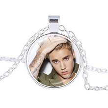 High Quality Famous Star Justin Bieber Necklace Jewelry Gift for Justin Bieber Fan Pendant Jewelry Accessories for Women