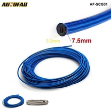 AUTOFAB - 50M Auto Stainless Steel Braided hoses Fuel Oil Line Hose For Handbrake Hose track drift racing (Blue,Silver) AF-SCG01(China)