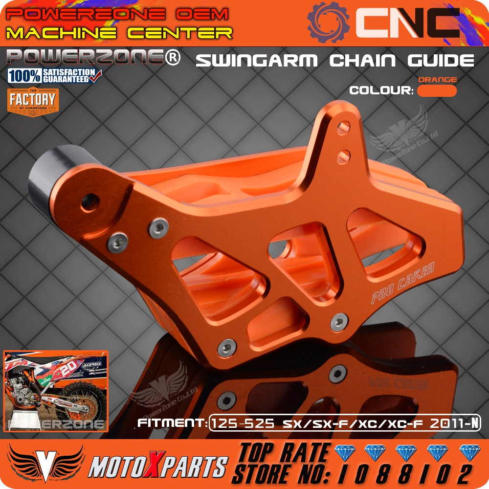Billet Chain Guard Guide Protector Protection Slider For KTM EXC EXCF SX SXF XC XCF XCF-W XCW 125-530 2008-2015 Motocross Enduro<br>
