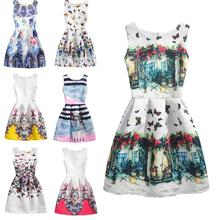 Summer Dresses for teens flower cartoon pattern Tutu Wedding Birthday Party Dresses For Girls Children's Costume D3-26B