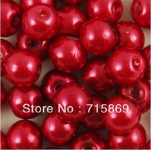 2000 pieces Burgundy Red Glass l Round Beads 6mm Free Shipping