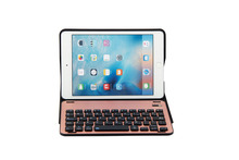 Aluminum Alloy Metal Removable Wireless Bluetooth 3.0 Keyboard Stand Leather Case Cover For Apple iPad Mini 4 Mini4 4Gen Tablet(China)