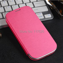 High Quality Flip PU Leather Back Battery Housing Case Cover for Samsung Galaxy SIIII SIV S4 SIV i9500 9500 Mobile Phone Cases