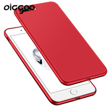 Oicgoo Soft TPU Luxury Cover case For iphone 7 6 6S plus Plating Mobile Phone TPU Cases For iphone 6 6s plus Cover Red Case