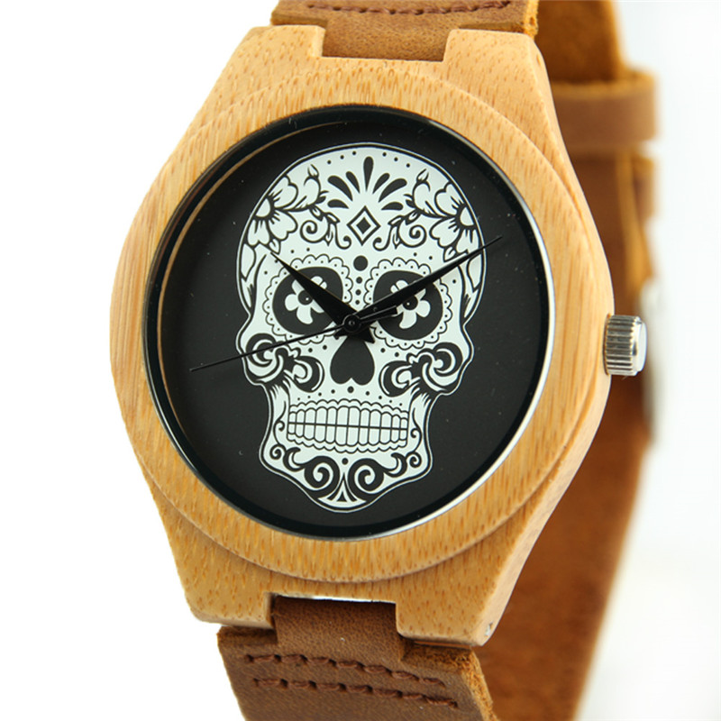 Ladies Casual Quartz Watches Natural Bamboo Watch Top Brand Unique Watches for Couple Gift