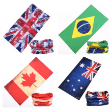 Flag Series headscarf Riding Bicycle Motorcycle Variety Turban Novelty Bandanas Magic Headband Veil Multi Head Scarf Scarves(China)