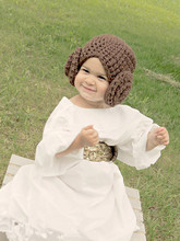 Princess Leia Costume - Crochet Star Wars Princess Leah Hair Hat Wig - Kids Star Wars Costume - Comic-Con Costume - Baby Cosplay(China)