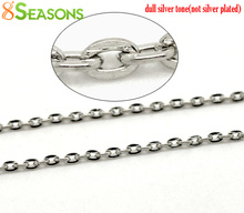 Buy 8SEASONS Silver Tone Color Links-Opened Cable Chains Findings 3x2mm, sold per lot 10M, B15316 for $1.78 in AliExpress store