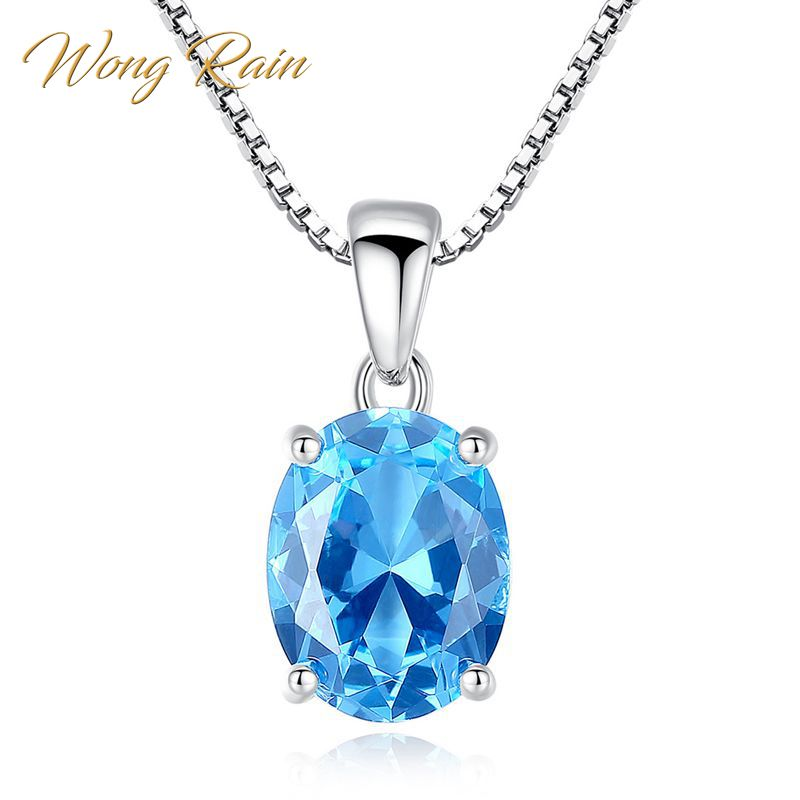 925 Sterling Silver Natural Ocean Blue Topaz Sapphire Gems Wedding Hook Earrings