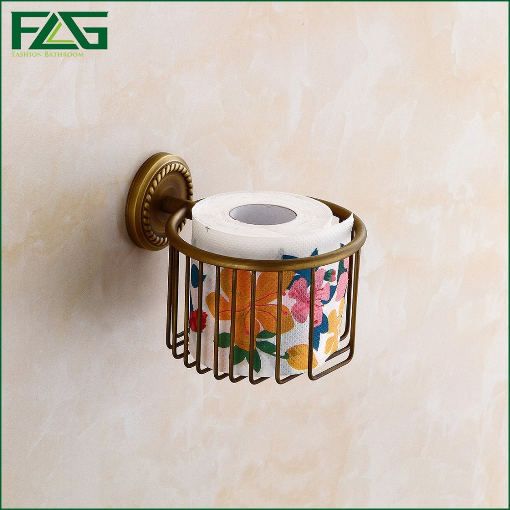 FLG Wall Mounted Antique Brass Bathroom Accessories Toilet Paper Holder Sets Printing Toilet Roll Holder,Free Shipping 80112<br><br>Aliexpress
