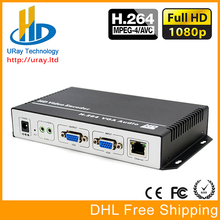 MPEG4 AVC /H.264 VGA Video + Stereo Audio To IP Streaming Encoder RTMP UDP RTSP For IPTV, Live Streaming Broadcast, Wowza Server