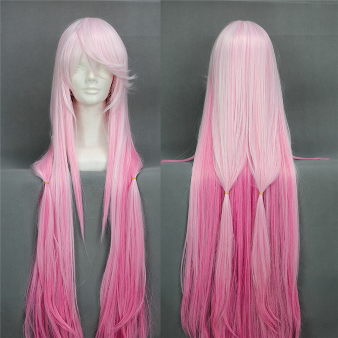 Hot Beauty Hair Yuno Gasai Long Pink Color Mixed Women Girl Party Cosplay Wig Mirai Nikki / The Future Diary Natural Hair Wigs<br><br>Aliexpress