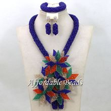 Nice Party Jewelry Sets Fashional Costume Jewelry Necklace Sets Wholesale HEB056(China)