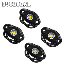ROL-001  4Pcs Universal 9W High Power LED Rock Light Kit Underbody Glow Trail Rig Lamp For Jeep Truck SUV Off-Road Boat Xenon