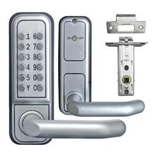 L&S Mechanical Code Lock Digital Machinery Keypad Password Door lock Stainless Steel Latch Zinc Alloy Silver L17008