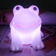 Mabor Creative Night Light Creative Colorful Color Changing Gradient Frog LED Night White Light Lamp(China)