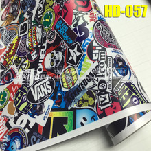 New arrival HD-057 Premium Bomb Vinyl Sticker For Car wrapping Bomb graffiti Car Sticker Bomb vinyl wrap film For motorcycle